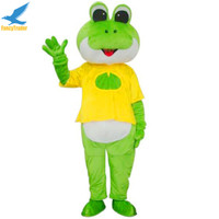 2016 New Fancytrader Cartoon Frog Mascot Costume with Fancy Dress Adult Size
