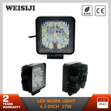 "Hot selling 27 watt led work lamp 4.3"" automobiles 12V 24V 27w led tractor working lights"