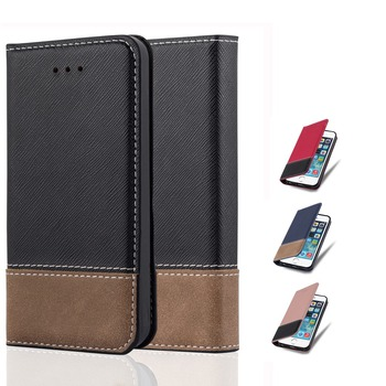 Hot sales new prodeucts phone case leatehr for iphone 6, for apple iphones 6 leather case with wallet