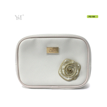 PVC leather fashionable pouch cosmetic bag lychee pattern makeup bag