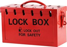 Portable Red Group Lock Box