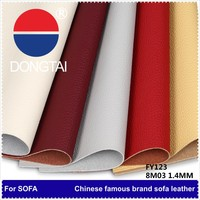1.4mm 100% flocking Artificial leather/wholesale Genuine embossing pu synthetic leather/With 20 years expenience pu leather