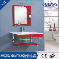 Glass design cheap home wall mount ceramic bathroom sink