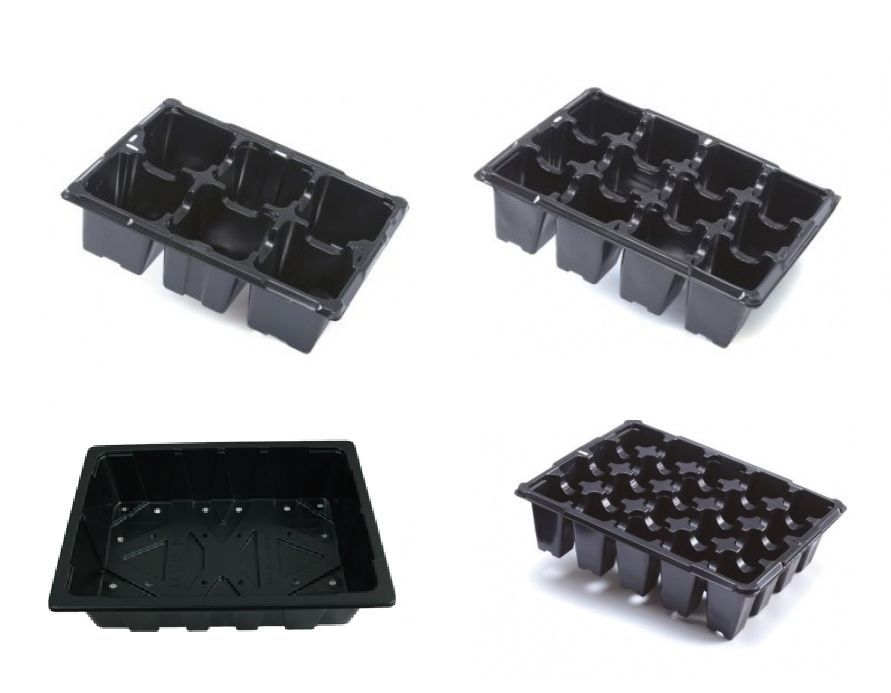 8 Cell Punnet Propagation Seedling Plastic Plug Pot Plant Trays