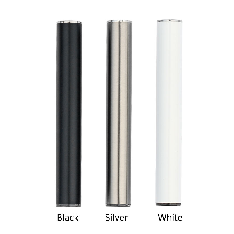 2018 Amazon top sale vape 510 custom logo butonless 10.5mm diameter cbd vape pen battery