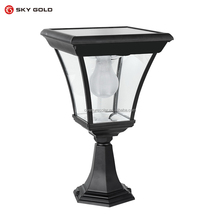 Cheap price powered solar gate garden lamp solar post light