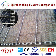 Spiral winding stainless steel wire conveyor belt for oven