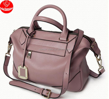 2017 trending luxury pebbled women genuine leather should bag, women tote bag, ladies genuine leather