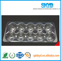 clear 12 holes folding plastic egg tray/cartons