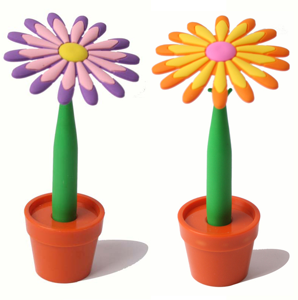 Licheng BP3539 Flower Shape Pen, Promotional Novelty Rubber Pen