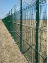 Professional 3D nylofor fencing panels /Parking 1.83mx2.5m security curvy welded mesh panel fencing 50*200mm direct factory