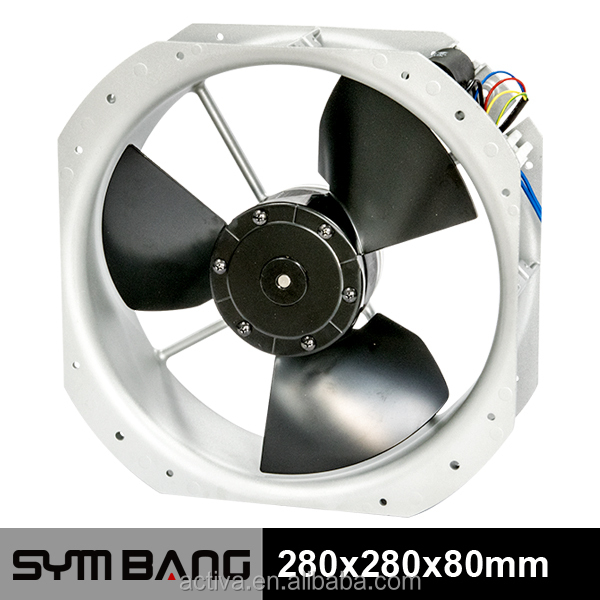 A28080M-DA 1100cfm 280mm electric motor ac cooling fan blade