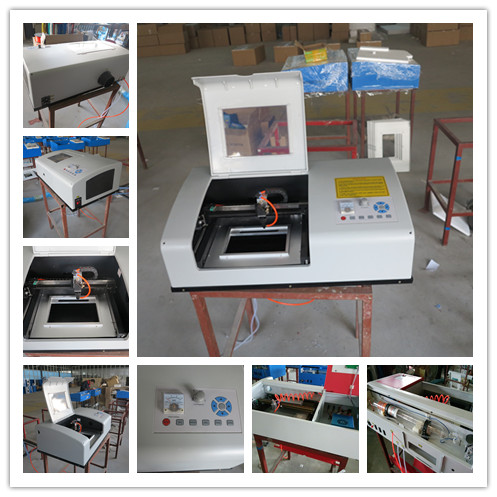 China Hot Sale Mini Stamp/Rubber/Craft Laser Engraving Machine