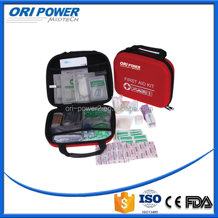 OP FDA CE ISO approved wholesale OEM red small EVA handy automobile first aid kit
