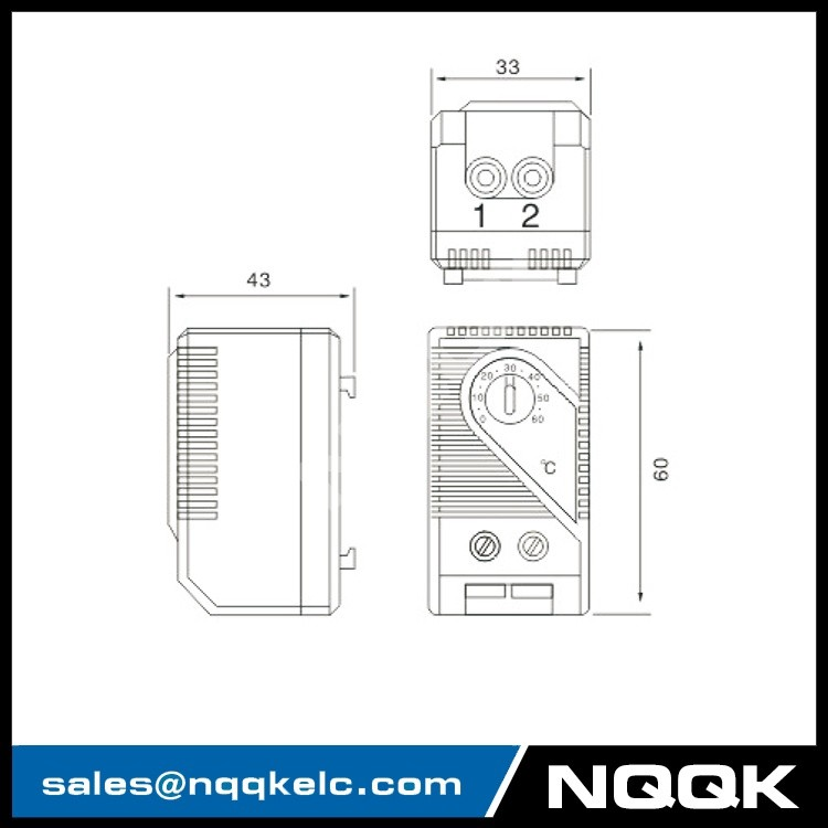 KTO011 Thermostat (normally closed) , contact breaker for regulating heaters