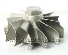 high precision nickel base alloy lost wax castings turbine wheel/disc used for gas turbine engine parts