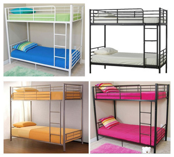 Dormitory metal decker double bunk bed with mattress single or double metal mesh frame bed cheap price