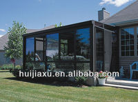 Modern design panel glass house for outdoor,high quality sunroom