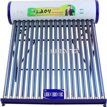 Compact non-pressurized solar water heater, evacuated tube solar hot water heater system
