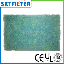 2014 Mixed Green and Blue air conditioning filter media for collecting fish eggs