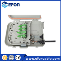 Outdoor Indoor Waterproof IP65 FTTH Small Cabinet with 1 8 PLC Splitter