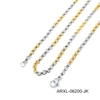 stainless steel two colour mix necklace dubai new gold chain design