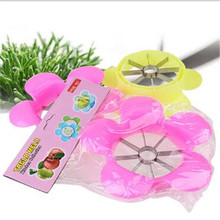 2017 Flower Shape Stainless steel Apple Corer Slicer Divider Fruit Cutter