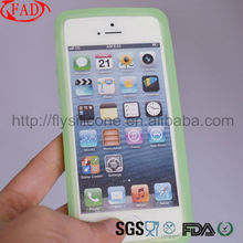 Fashion And Popular Silicone Cover For Iphone 5 Jelly Case,Light Blue