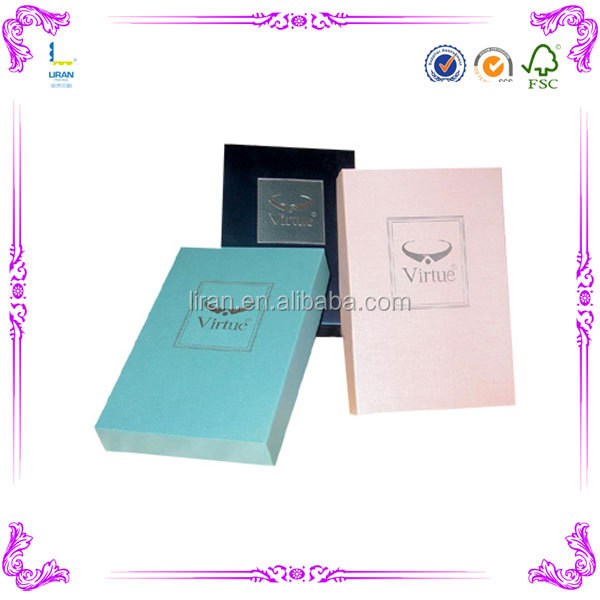 fancy full color printing paper necktie box/ bow tie packaging for bow tie hot sale