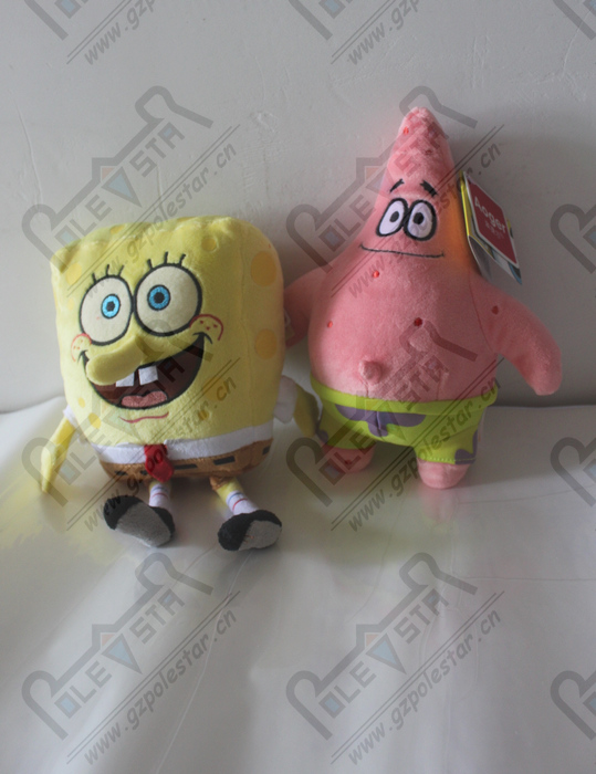 25*20CM sponge bob and patrick star dolls