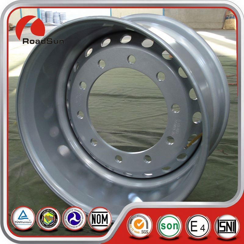 For Hot Sell Eavy Truck Silver Wheel Rims