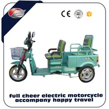 china electric tricycle three wheel with double seat