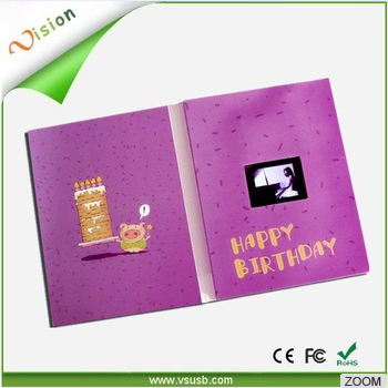 Custom musical birthday greeting cards for lover funny birthday card / music video greeting cards