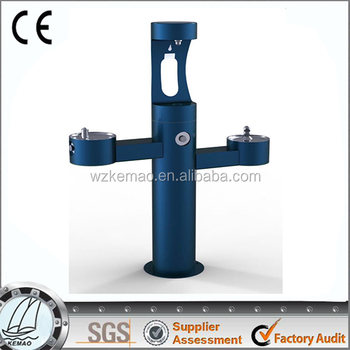 Outdoor Fountain Bi-Level Pedestal Non-Filtered, Non-Refrigerated, drinking fountain