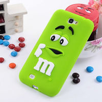 Wholesale Phone Case for Samsung Galaxy Note 2 N7100 Silicone Cute Case Cover