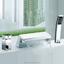 New technology luxury bathroom design waterfall sink single handles shower taps