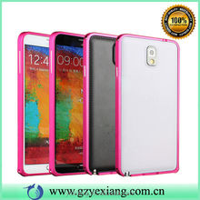 Wholesale Cell Phone Accessories For Samsung Galaxy Note 3 Metal Bumper Case