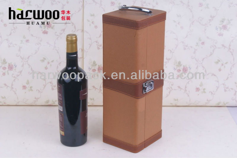 Faux Leather Wine Carrier with High Quality