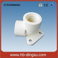 "Sale high quality with low price ""DS"" PVC elbow with plate"
