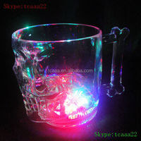 high plastic led light wine glasses cup with straw