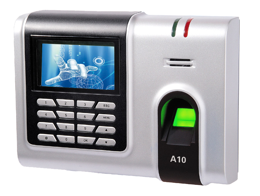 ZK sotware fingerprint recognition time attendance A10
