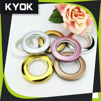 KYOK hot sales customized colourful plastic shower curtain rings,cheap curtain rings,plastic curtain eyelets