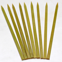 Disposable copper skewers bamboo flat skewer for outdoor