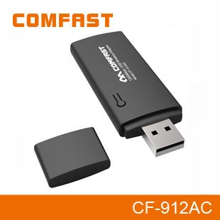 Portable 1200Mbps USB3.0 Dual Band WiFi Adapter 2.4Ghz&5.8Ghz for Laptop COMFAST CF-912AC