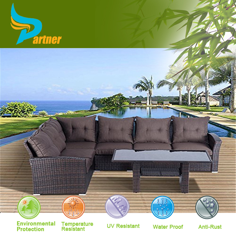 Waterproof Sofa Set Simple Woven Rattan Sofas Design High Back Sofas Living Room