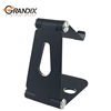 Foldable aluminum desk mobile phone stand smartphone holder and accessory