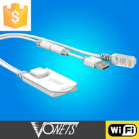 wireless repeater,wifi bridge, adapter for any IP equipments,Vonets VAP11N