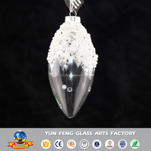 Wholesaler long clear hanging ornaments with pearl