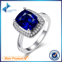 plenty in stock square cz gemstone ring jewelry trends in 2016