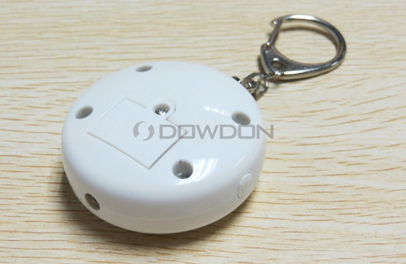 130DB Round Shaped Double Switch Anti-Attack Personal Alarm with Keychain